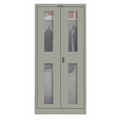 "Hallowell 400 Series 36"" Stationary Ventilated Knock-Down Wardrobe Cabinet"