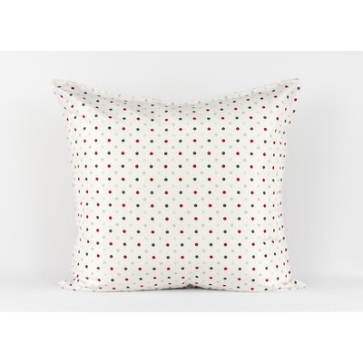 LJ Home White polka dot euro sham