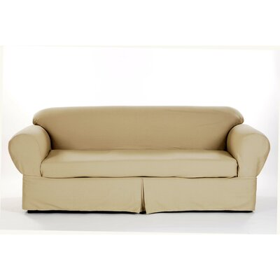 Classic Slipcovers Brushed Twill Sofa Slipcover