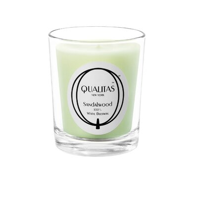 Qualitas Candles Beeswax Sandalwood Scented Candle