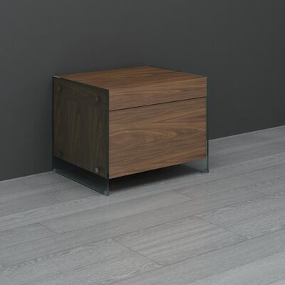 Casabianca Furniture II Vetro Drawer Nightstand