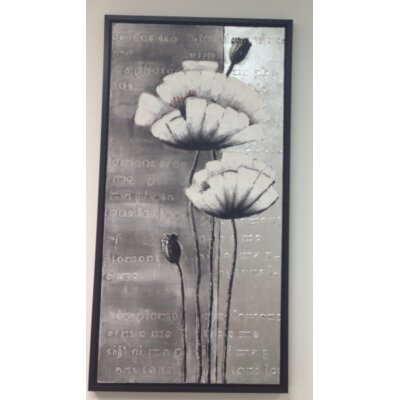Casabianca Furniture Standing Flowers Framed Art