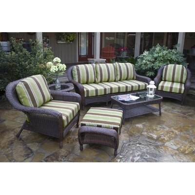 Tortuga Outdoor Lexington 6 Piece Seating Group with Sofa