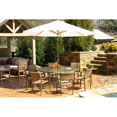 tortuga outdoor maracay 9 piece dining set reviews wayfair
