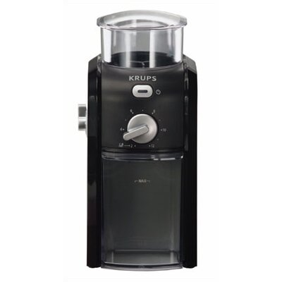 Krups 12-Cup Burr Coffee Grinder in Black