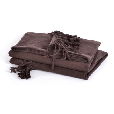 Berkshire Blanket Luxe Boutique Cotton Acrylic Fringed Woven Throw