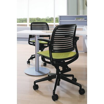Steelcase Cachet Upholstered Seat Swivel-Base Chair