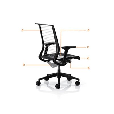 Steelcase Think Mesh Back Height Adjustable Drafting Stool