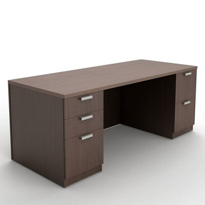 Currency Double Pedestal Executive Desk