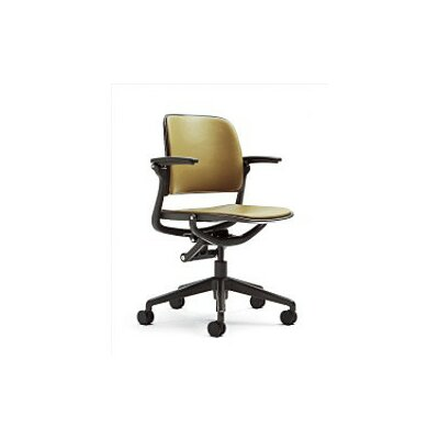 Steelcase Leap Mid-Back Mesh and Leather Office Chair