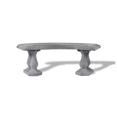 Amedeo Design Resin Stone Curved Garden Bench | Wayfair