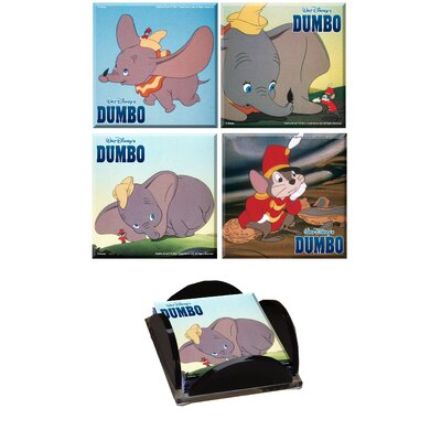 Trend Setters Dumbo Glass Print Coaster (Set of 4)