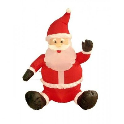 BZB Goods 4' Christmas Inflatable Sitting Santa Claus