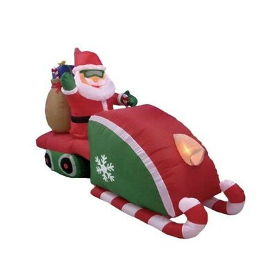 BZB Goods 8' Christmas Inflatable Santa Claus Driving Snowmobile