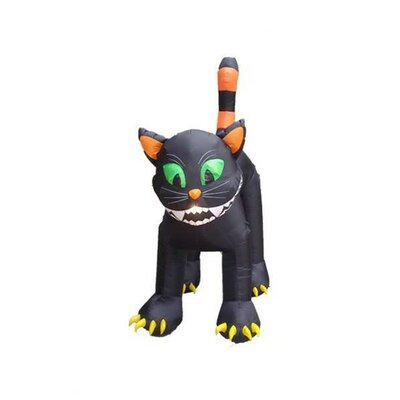 BZB Goods Halloween Inflatable Animated Huge Black Cat