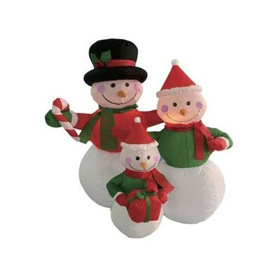 BZB Goods Christmas Inflatable Snowmen Family Decoration