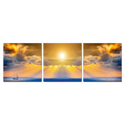 Ocean and Sun Modern Wall Art Decoration