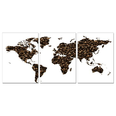 Coffee World Map Modern Wall Art Decoration