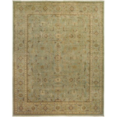 Alanya Design Light Green, Hand-Knotted Rug