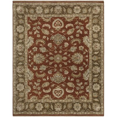 Rojas Design Red, Hand-Knotted Rug