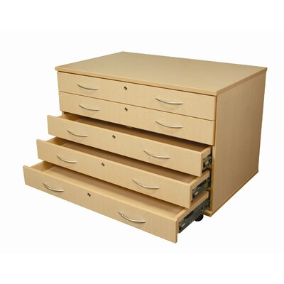 WB Manufacturing Paper Five Drawers / Casters Storage Unit