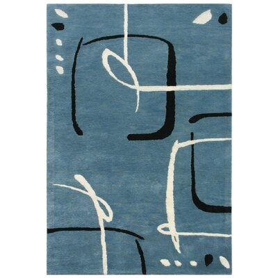 Blue Scribble Down Aegean Blue Rug