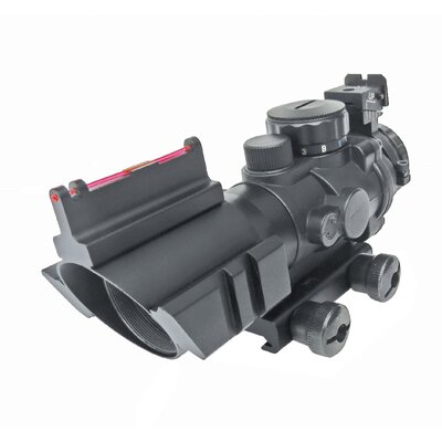 4x32 Prismatic IR Rifle Optic Sight Scope with Fiber