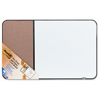 3M Post-It Self-Stick Cork Bulletin and Dry Erase 1.95' x 3.06' White Board