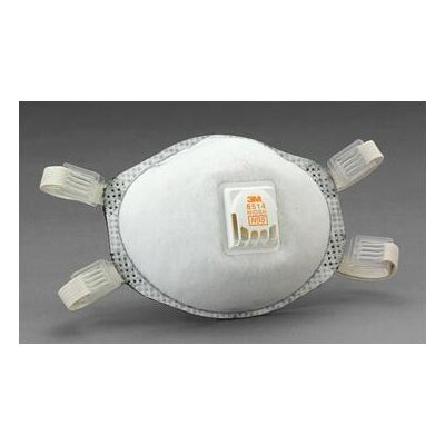 3M 8514 N95 Particulate Disposable Respirator With Cool Flow™ Exhalation Valve And M-Noseclip - NIOSH 42CFR84 (10 Per Box)