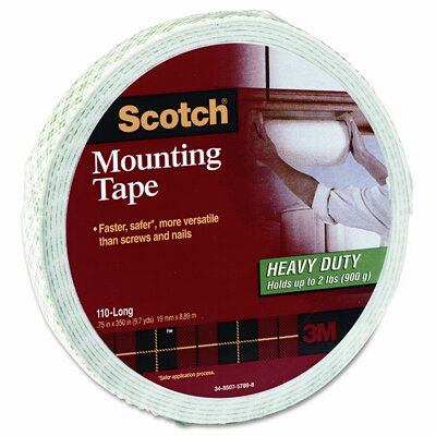 3M Foam Mounting Double-Sided Tape, 3/4 Wide x 350 Long