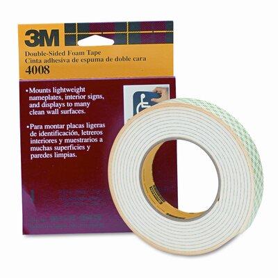 3M Foam Mounting Double-Sided Tape, 1 Wide x 144 Long