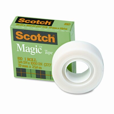 "3M Magic Office Tape, 3/4"" x 28 Yards, 1"" Core, Clear"