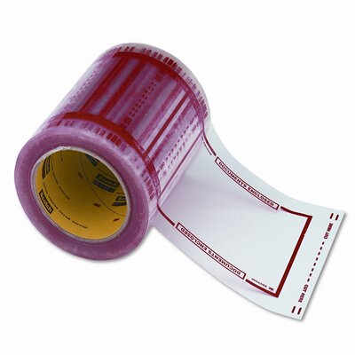 3M Pouch Tape Shpg. Doc. Protect System, 5x6 Clear Windows/Orange Border, 500/roll
