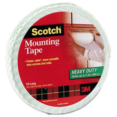 3M Foam Mounting Double-Sided Tape, 3/4 Wide x 350 Long