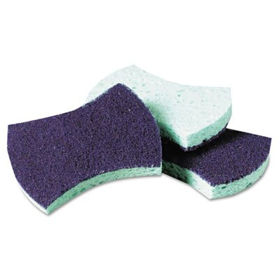 3M Scotch-Brite Power Sponge, Teal, 5/pack