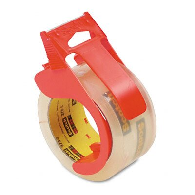 3M Scotch 3750 Commercial Grade Packaging Tape with Dispenser, 4/Pack