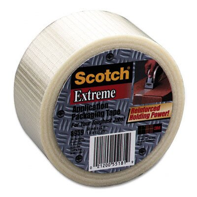 "3M Extreme Application Packaging Tape, 2"" x 55 Yards, 3"" Core"