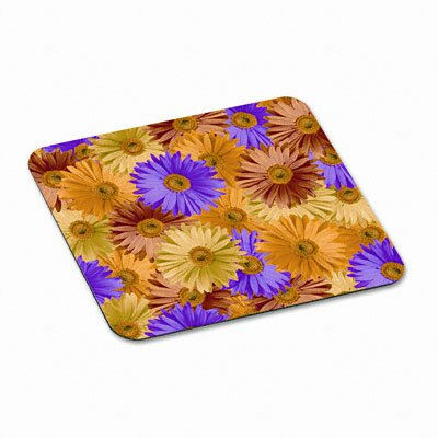3M Scenic Foam Mouse Pad, Nonskid Back, Daisy Design
