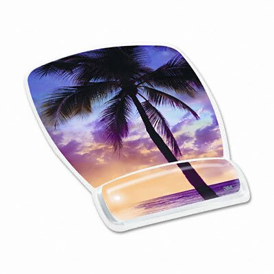 3M Gel Mouse Pad with Wrist Rest, Sunrise Design