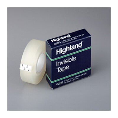 3M Tape Highland Invisible 3/4 X1296