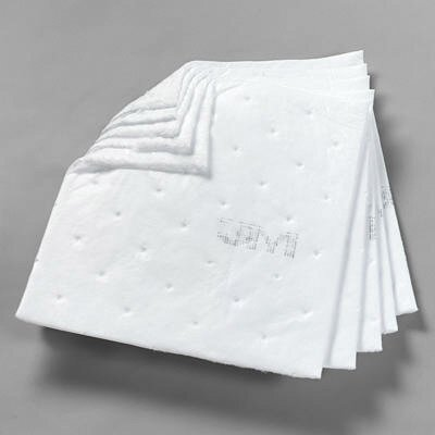 "3M Petroleum Sorbent Pads - 17""x19""x3/16"" 2pints/sheet power- sorb hp oil"