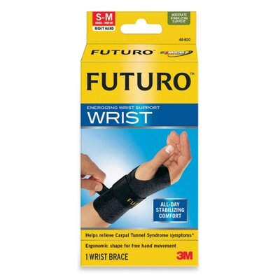 3M Futuro Energizing Wrist Support, Small/Medium, Fits Right Wrists