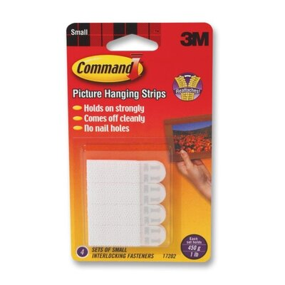 3M Command Picture Hanging Removable Interlocking Fasteners, 4 Set/Pack