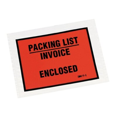 3M Non-Printed Self-Adhesive Packing List Envelope, 1000/Box