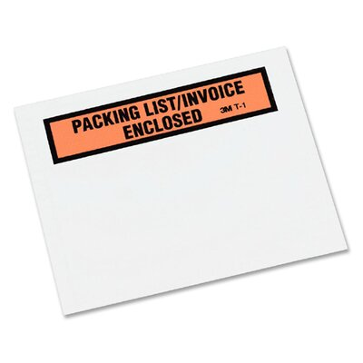 3M Top Print Self-Adhesive Packing List Envelope, 1000/Box
