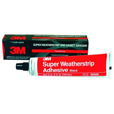 3M Super Weatherstrip&Gasket Adh Black 5Oz