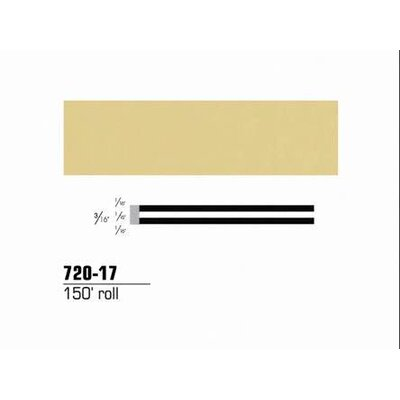 "3M Striping Tape-Tan 3/16"""" Double 150' Roll"