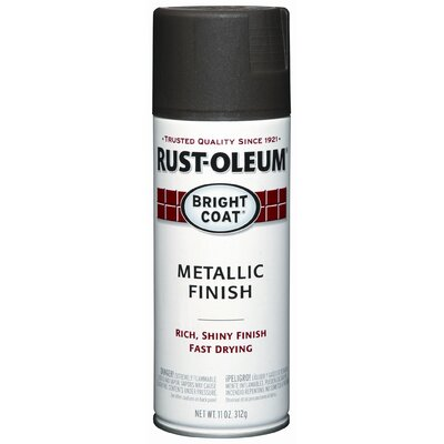 Rustoleum 11 Oz Dark Bronze Bright Coat® Metallic Finish Spray Paint