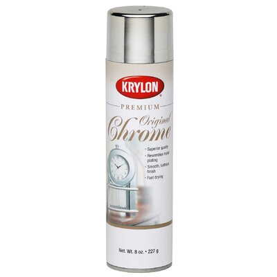 Krylon 8 Oz Original Chrome Premium Metallic Spray Paint