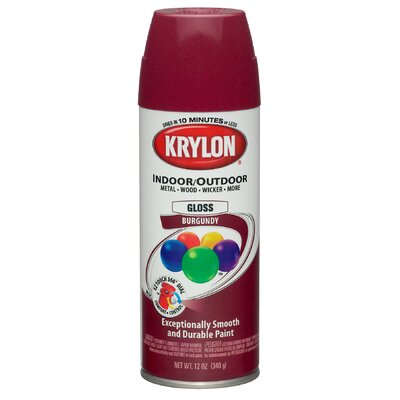 Krylon 12 Oz Burgundy Indoor and Outdoor Spray Paint Gloss